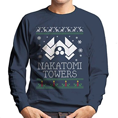 die hard nakatomi towers christmas mens sweatshirt