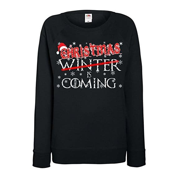 f166b1c37 Womens Funny Sweatshirt-Christmas Winter is Coming Game of Thrones Inspired