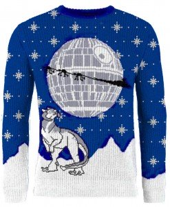 star wars tauntaun tidings knitted christmas jumper