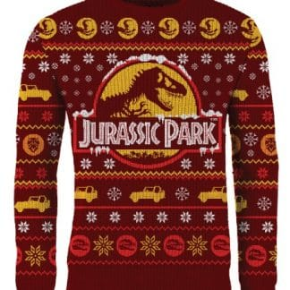 Knitted Jurassic Park Christmas Jumper
