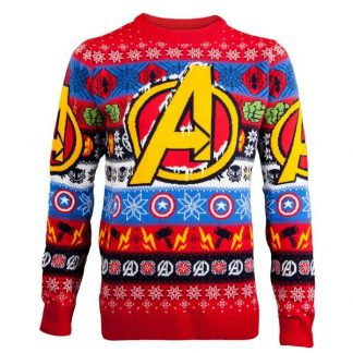 77e074889d9 Marvel Avengers Knitted Christmas Jumper – Red